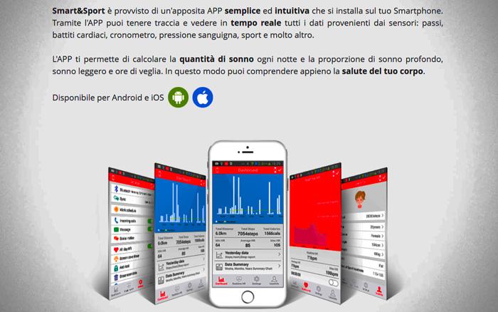 Applicazione per Smart e Sport Watch