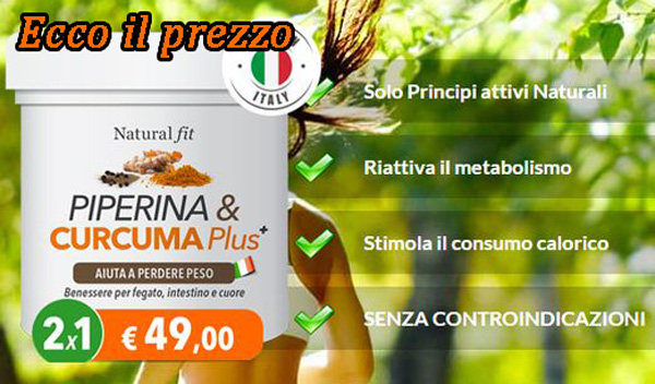 Costo di Piperina e Curcuma Plus