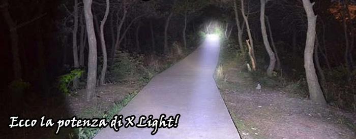 X Light Torcia con Zoom potentissimo