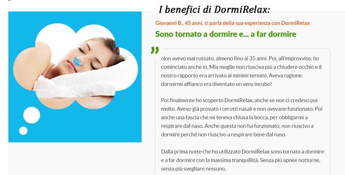 Benefici di Dormirelax