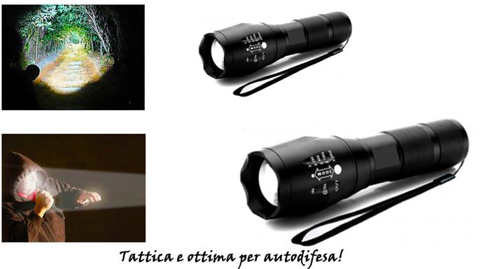 Torcia tattica X Light funzioni