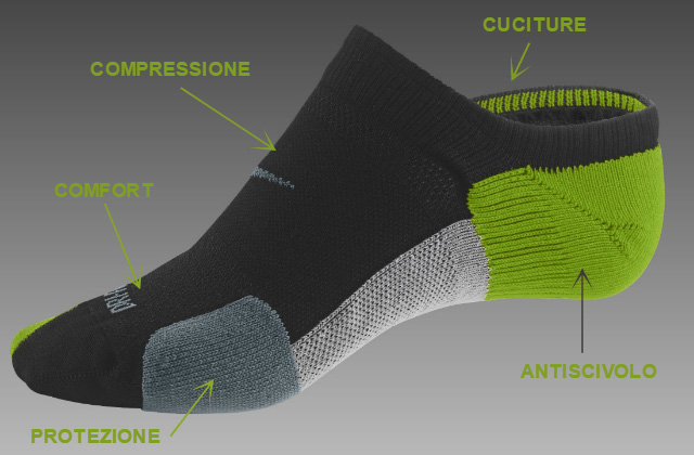 Come sono fatte le calze da corsa