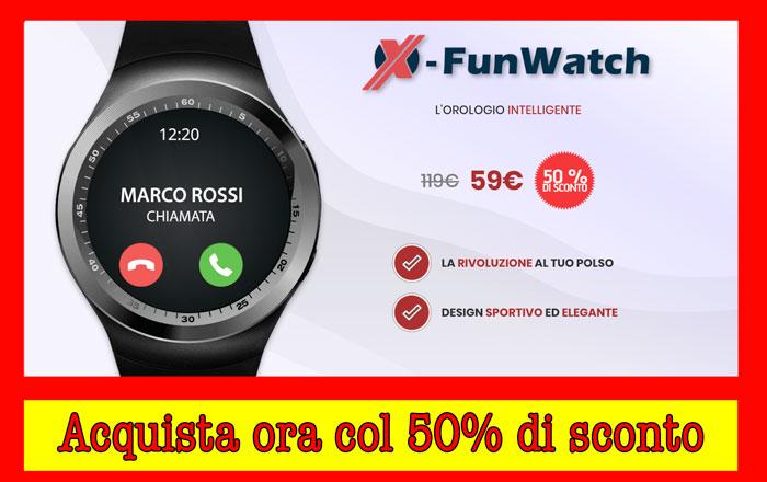 X Funwatch prezzo