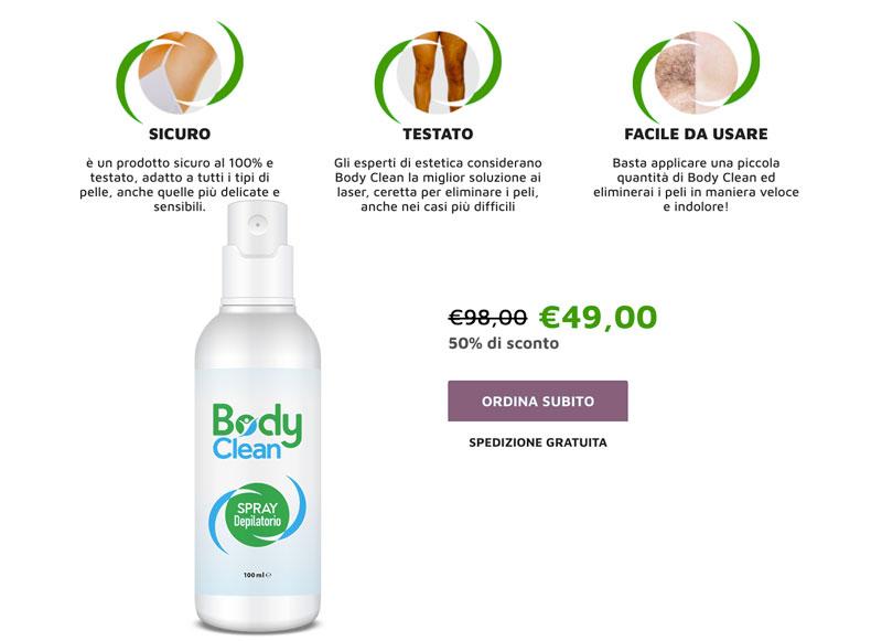 Come agisce Body Clean
