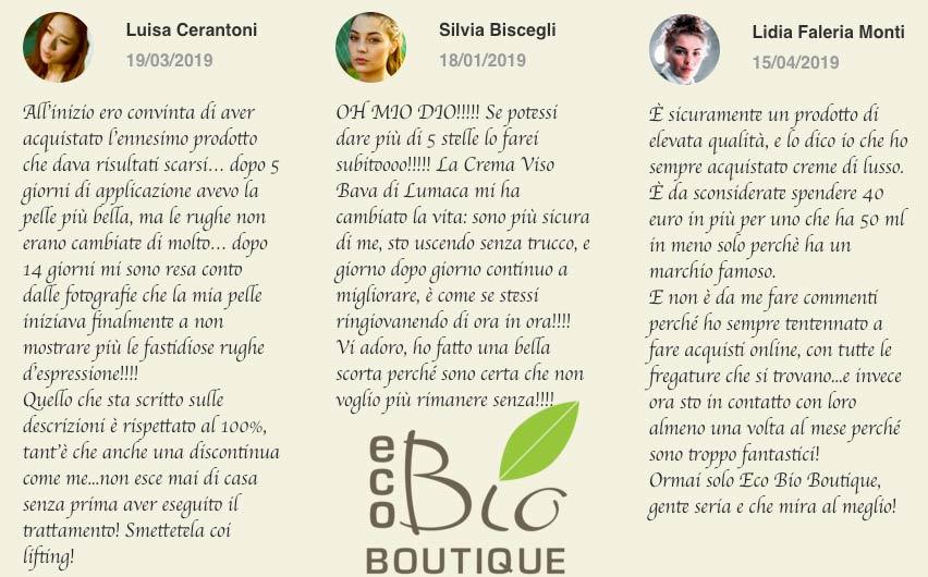 Crema viso bava di lumaca Eco Bio Boutique recensione