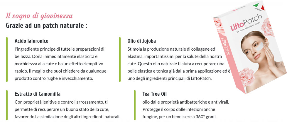 Ingredienti di Lifto Patch